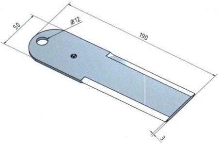 Z35241 Nóż rozdrabniacza kombajnu John Deere (hartowanie) - AGRO-DOM Ukraina