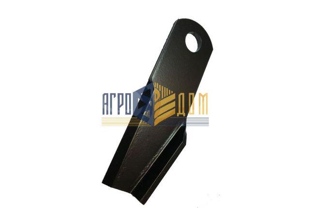 71382759 Nóż rozdrabniacza zagięty prawy kombajnu Massey Ferguson (hartowanie) - AGRO-DOM Ukraina