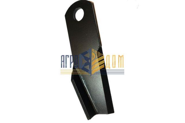 87384920 Нож измельчителя изогнутый левый New Holland (закалка) - АГРО-ДОМ Украина