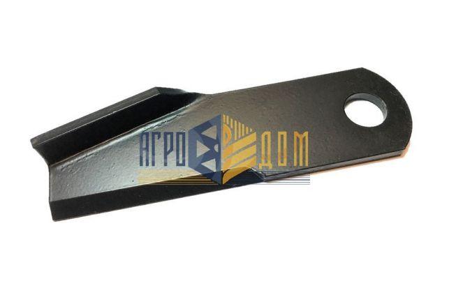 71382758 Nóż rozdrabniacza zagięty lewy Massey Ferguson (hartowanie) - AGRO-DOM Ukraina